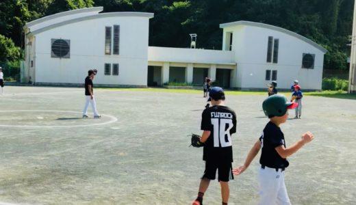 熱中症を気にしつつ、子ども会で熱闘ソフトボール大会。
