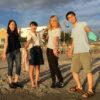 東洋大学の学生が「父子と海」の研究で逗子海岸に来てくれたので黒門とびうおクラブの見学に