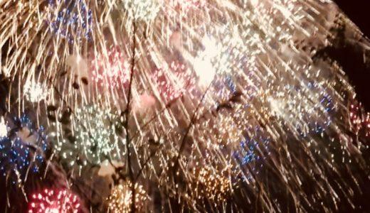 長野で晩秋の花火大会