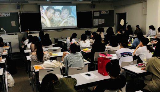 鶴見大学短期大学部歯科衛生科「ボランティア講座」でゲスト講義しました。