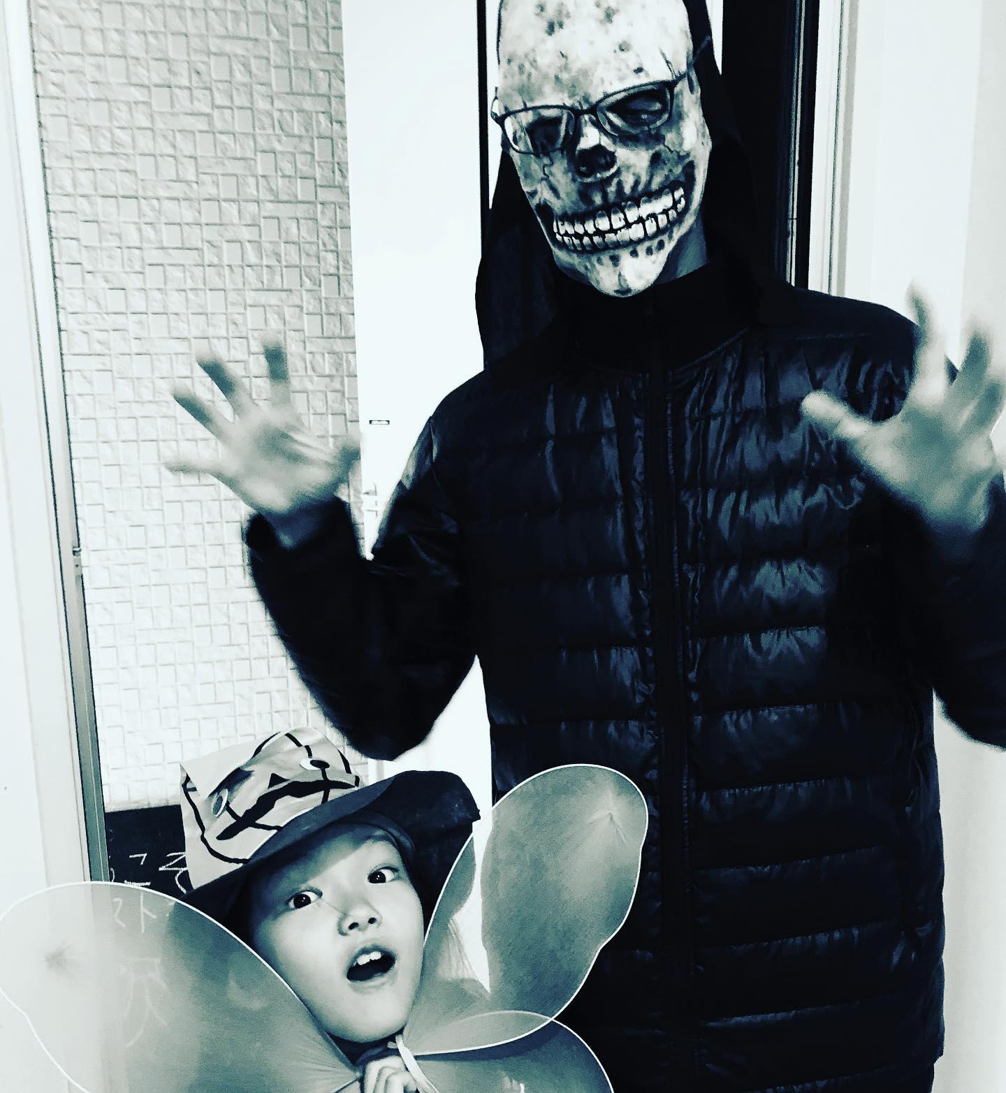 子ども会でハロウィンパレード