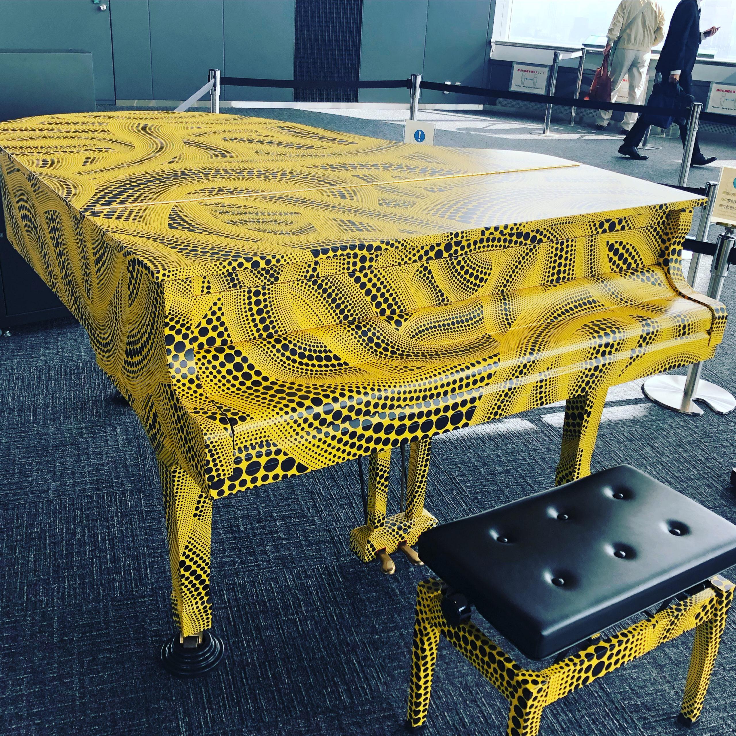 都庁のピアノを見学に。ハラミちゃんにハマってます。
